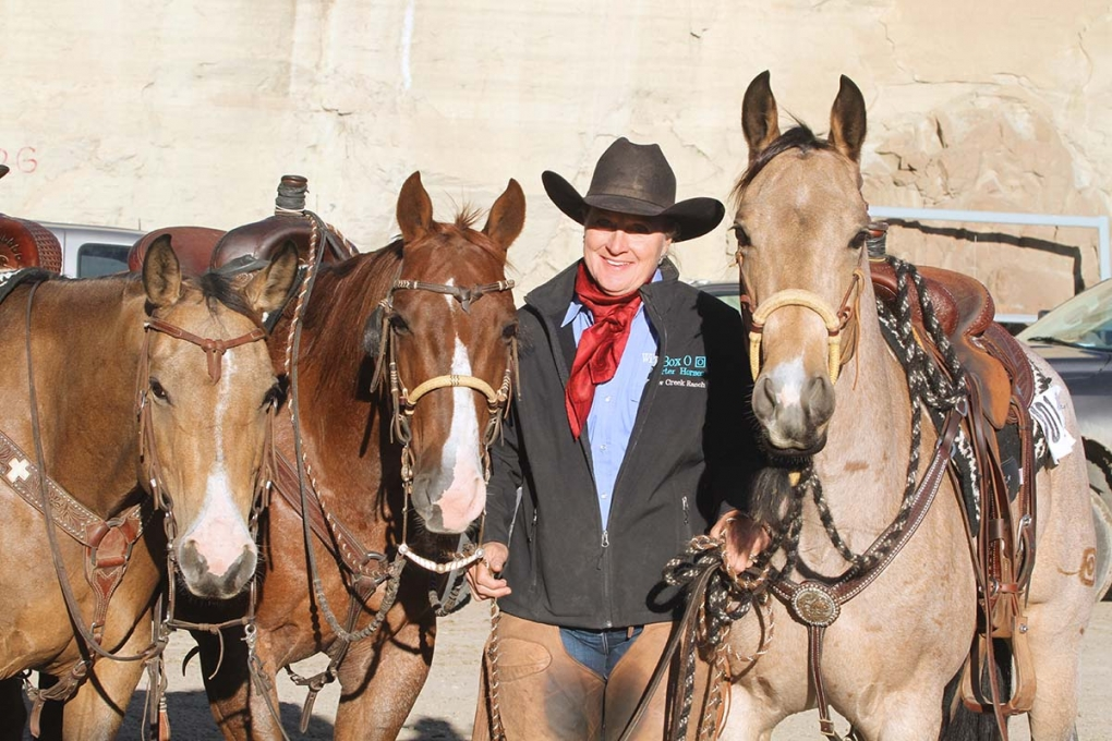 Jecca Ostrander's Box O Quarter Horses was presented the 2016 Ranching Heritage Breeder of the Year award at the 2017 AQHA Convention.