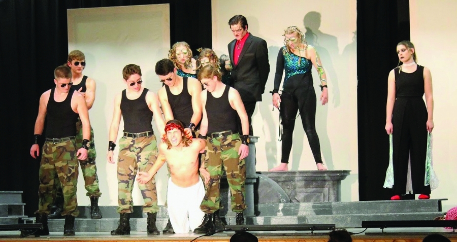"The GR One Act performed ""Aeternum Proliem"" at the Gordon City Auditorium on Monday, November 25."